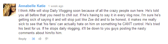 Alfie might stop vlogging.