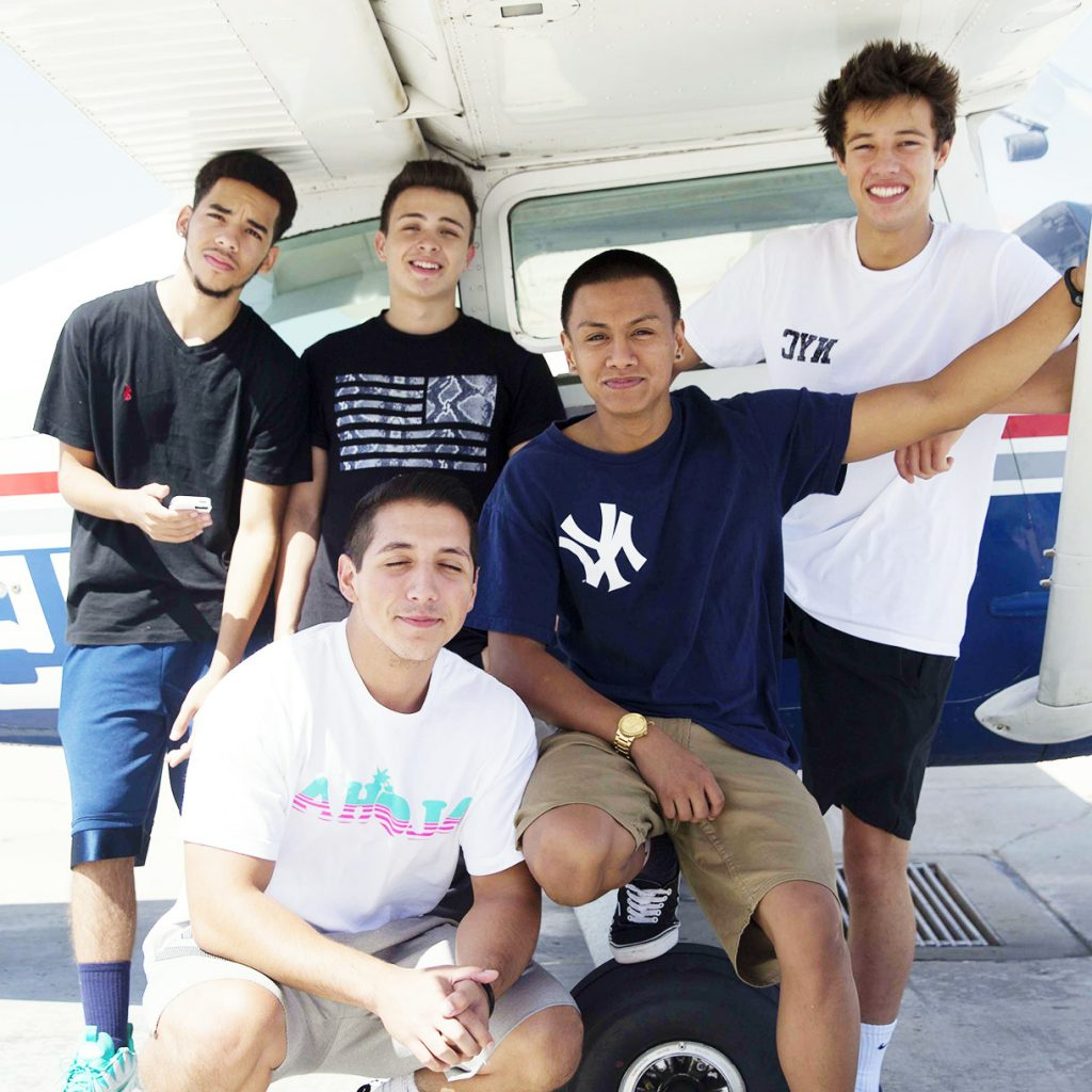 Cameron Dallas with friends.