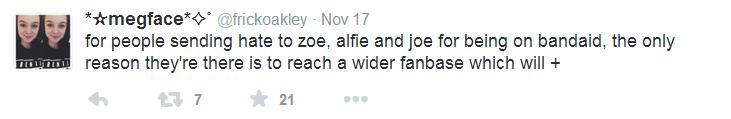 Fan defends inclusion.