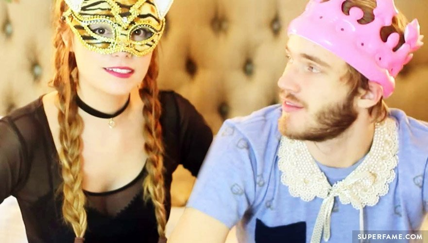 Marzia and Pewdiepie.