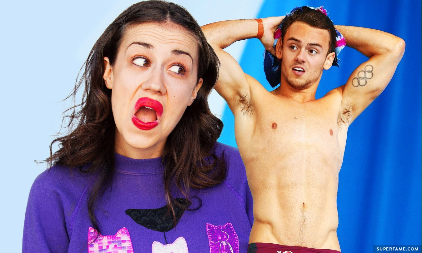 Tom Daley loves Miranda Sings.