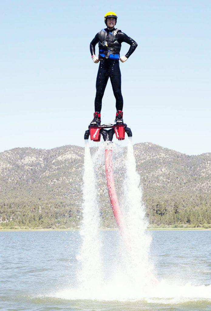 Nash Grier flyboards.