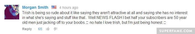 Newsflash, Trish!