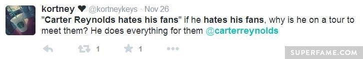 Carter meets fans.