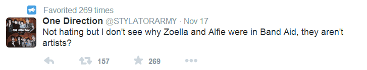 Alfie, Zoella are not artists.