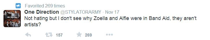 Alfie, Zoella are not artists.