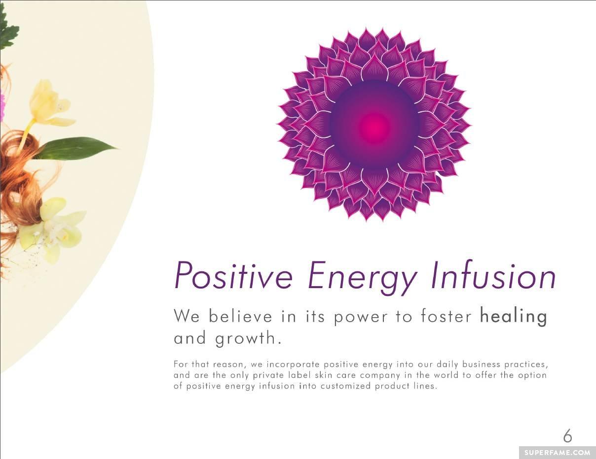 Energy infusion mumbo jumbo.