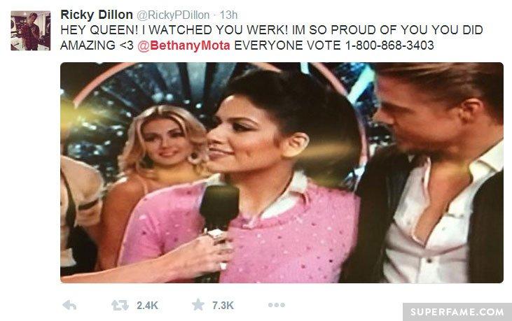 Ricky Dillon loves Bethany.