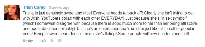 Trisha not flirting with Josh.
