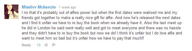 Alfie, it is unfair.