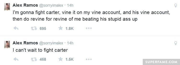 Alex punch threats.