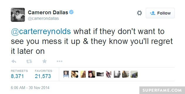 Cam tweets, you mess it up.