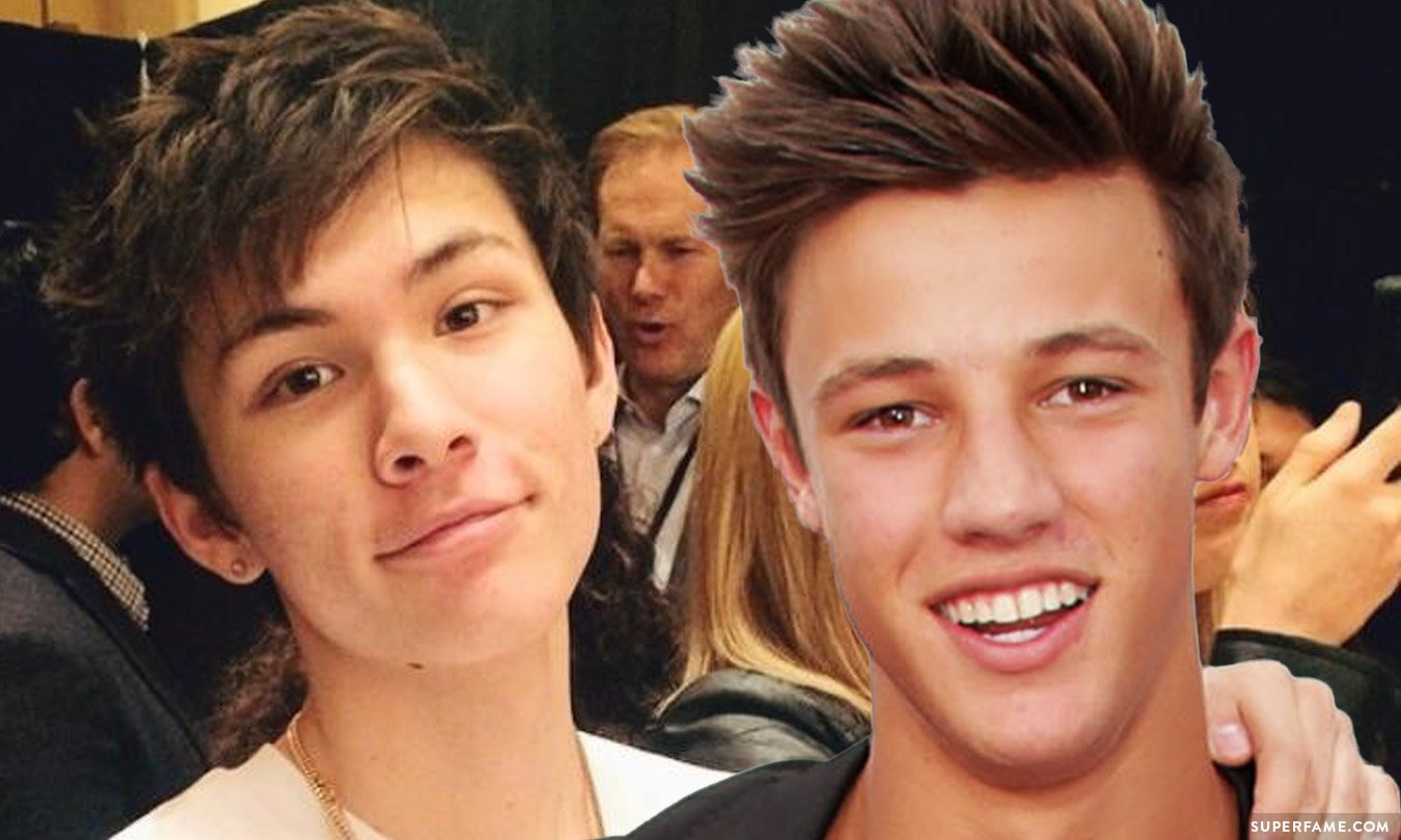 Carter Reynolds with Cam Dallas.