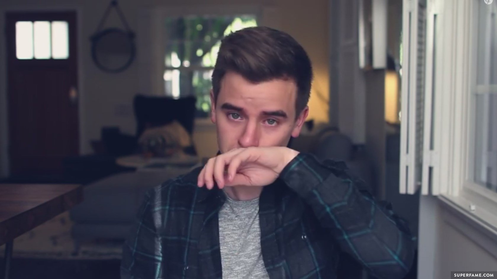 Connor Franta cries.