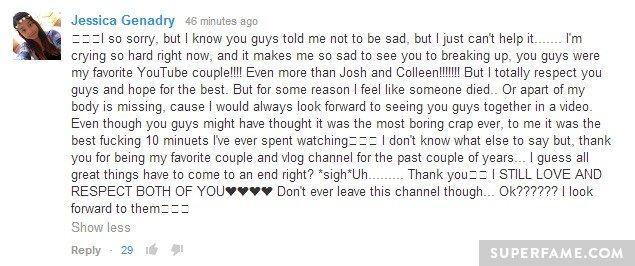 Crying so hard.