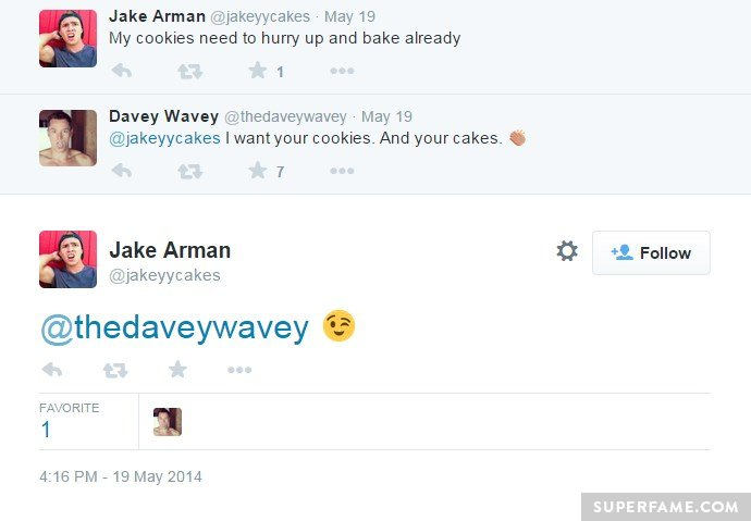 Daveywavey loves his cakes.