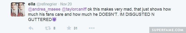 Fan is disgusted!
