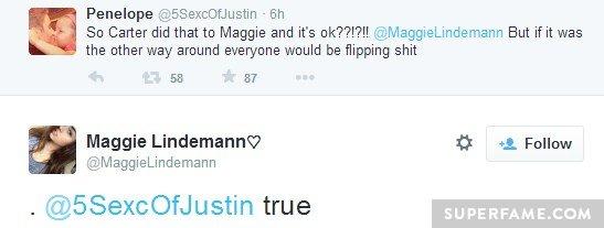 Maggie's flipping crap.