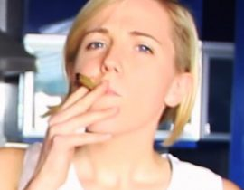 Hannah Hart smoking.