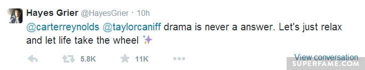 Hayes says no drama.