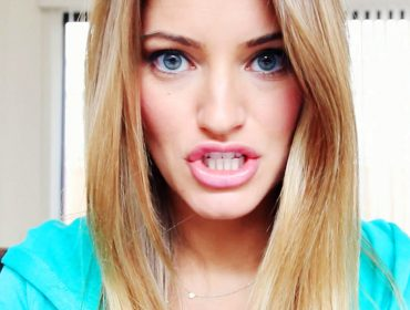 iJustine in her room.