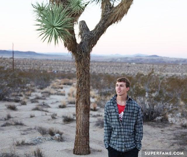 Jake under a tree.