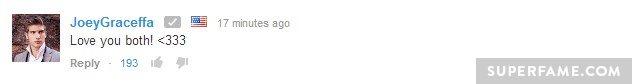 Joey Graceffa supports.