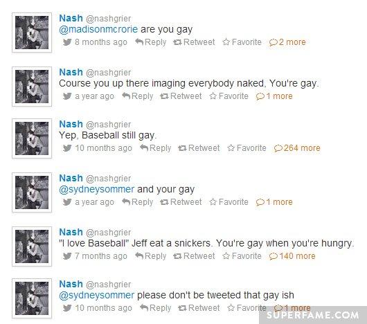 Nash Grier anti-gay.