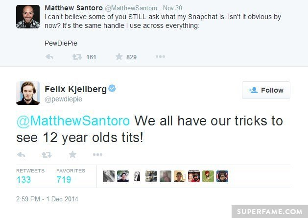 Pewdiepie Shocks with Controversial Pedophile Twitter Joke