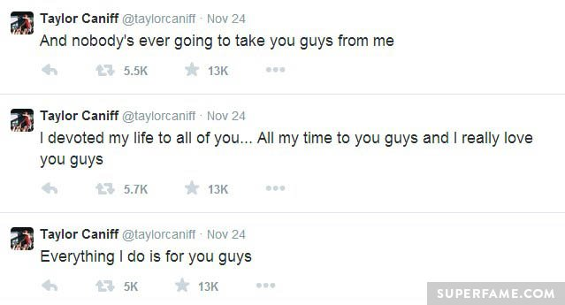 Taylor still loves fans.