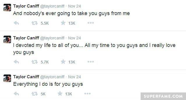 Taylor still loves fans.