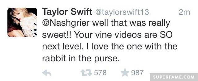 Taylor's deleted tweet.