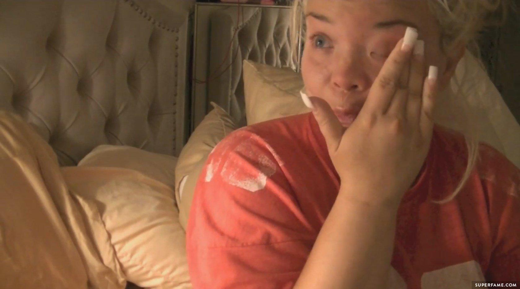 Trisha is crying.