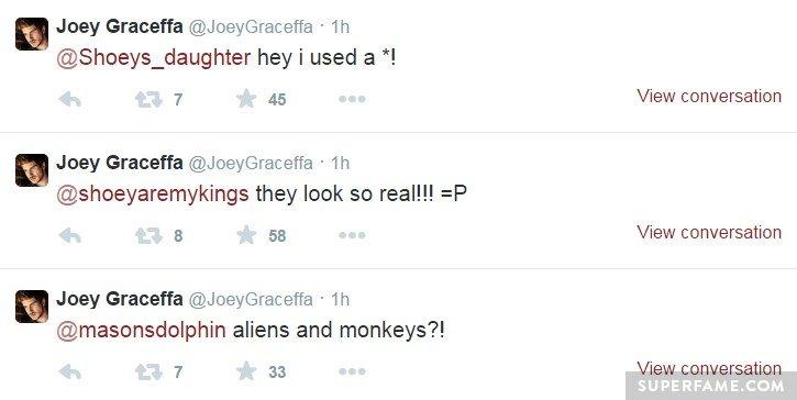 Joey held a Tweet spree.