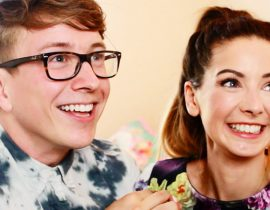 Tyler Oakley with Zoella.