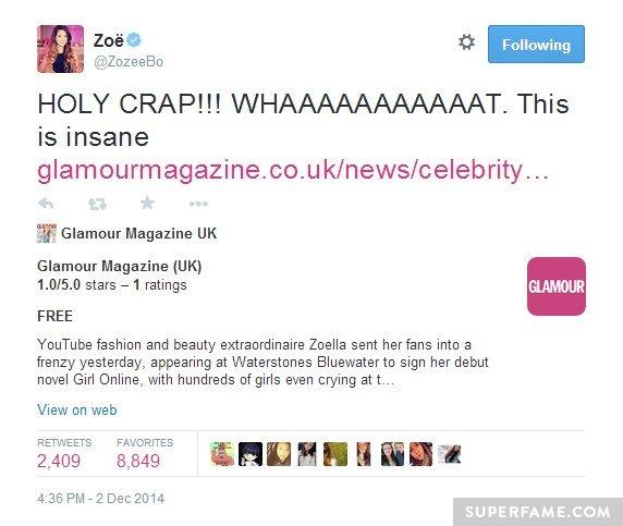 Zoella in Glamour.