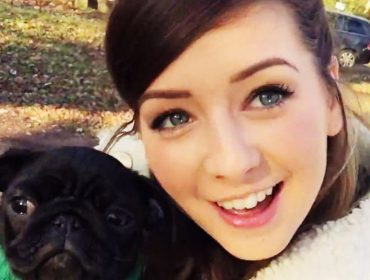 Zoella with Nala.