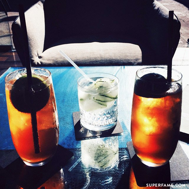 Connor and Troye's drinks.