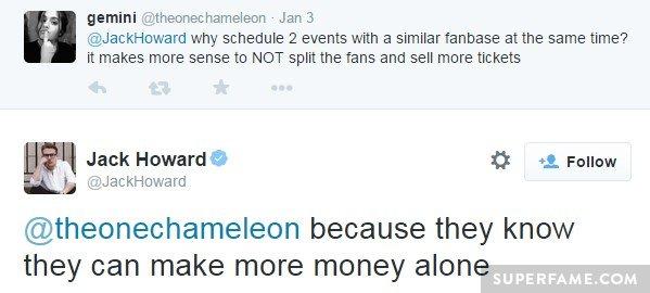 Jack's money tweet