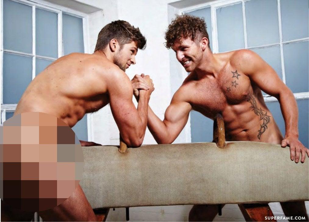 John Chapman nude with Lean Machines