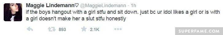Maggie sit down