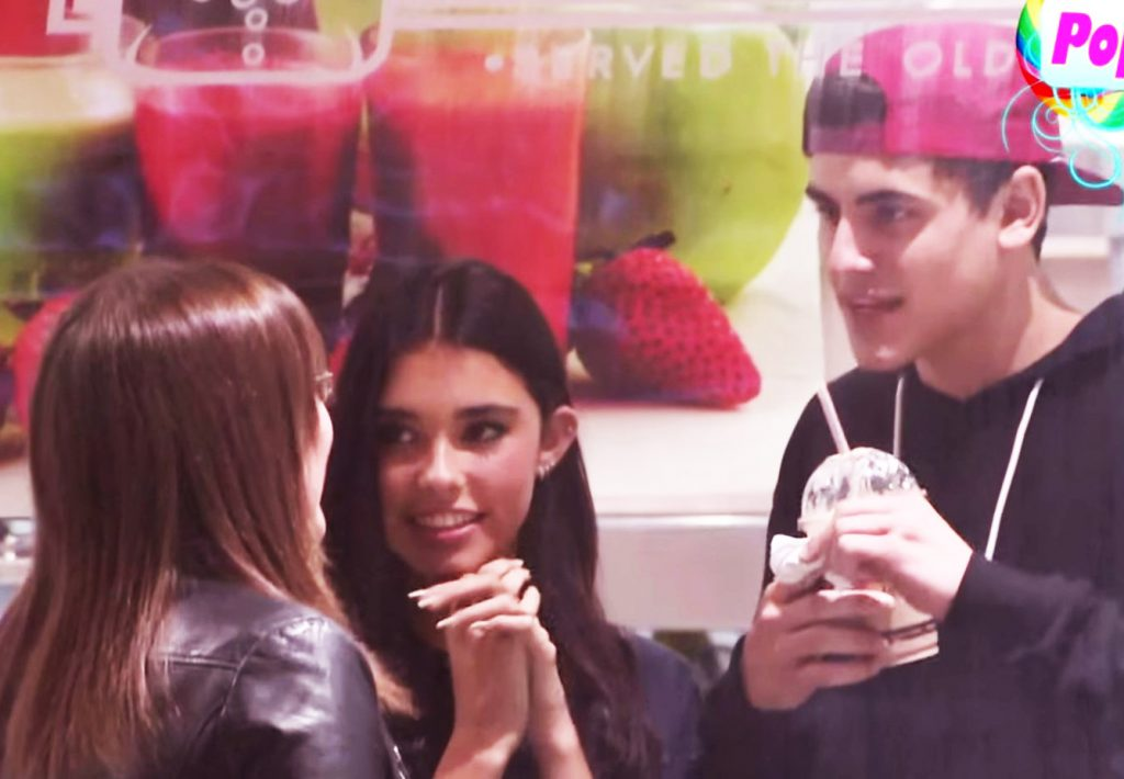 Sarah with Jack and Madison Beer