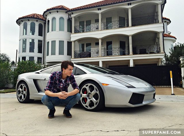 Taylor Caniff with his Lambo.
