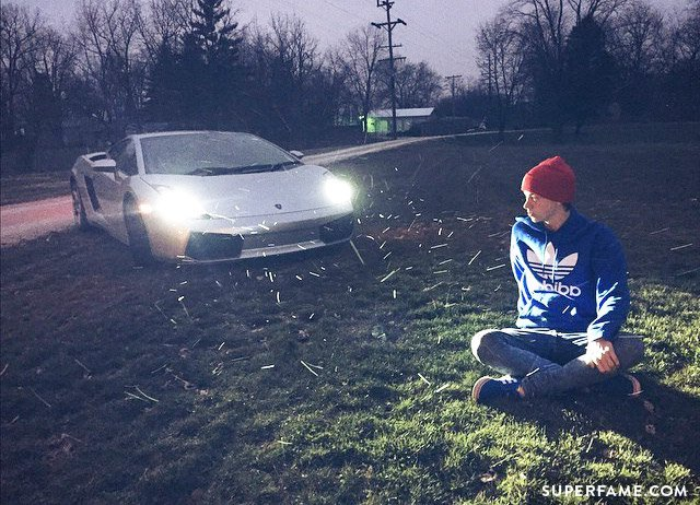 Taylor Caniff and his car.