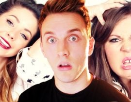 Zoella, Jack Howard and Louise Pentland.