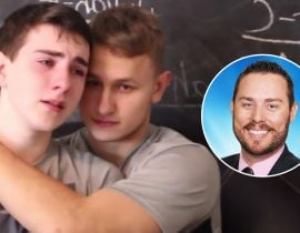 Austin Wallis and Nicolay, his boyfriend.