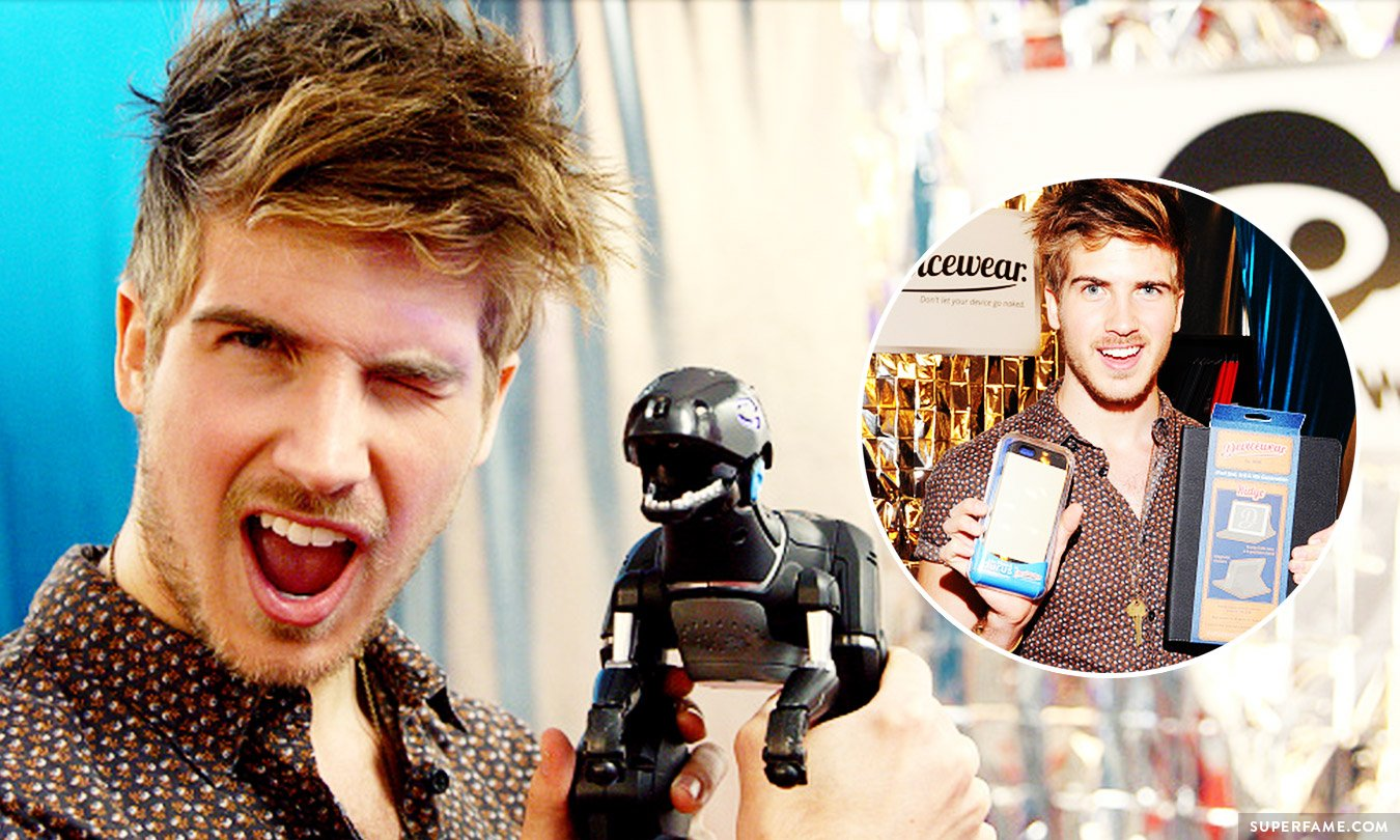 Joey Graceffa at the Grammy Gift Lounge.
