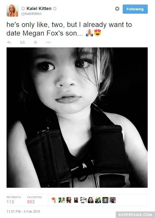 Kalel's Megan Fox pedo tweet.