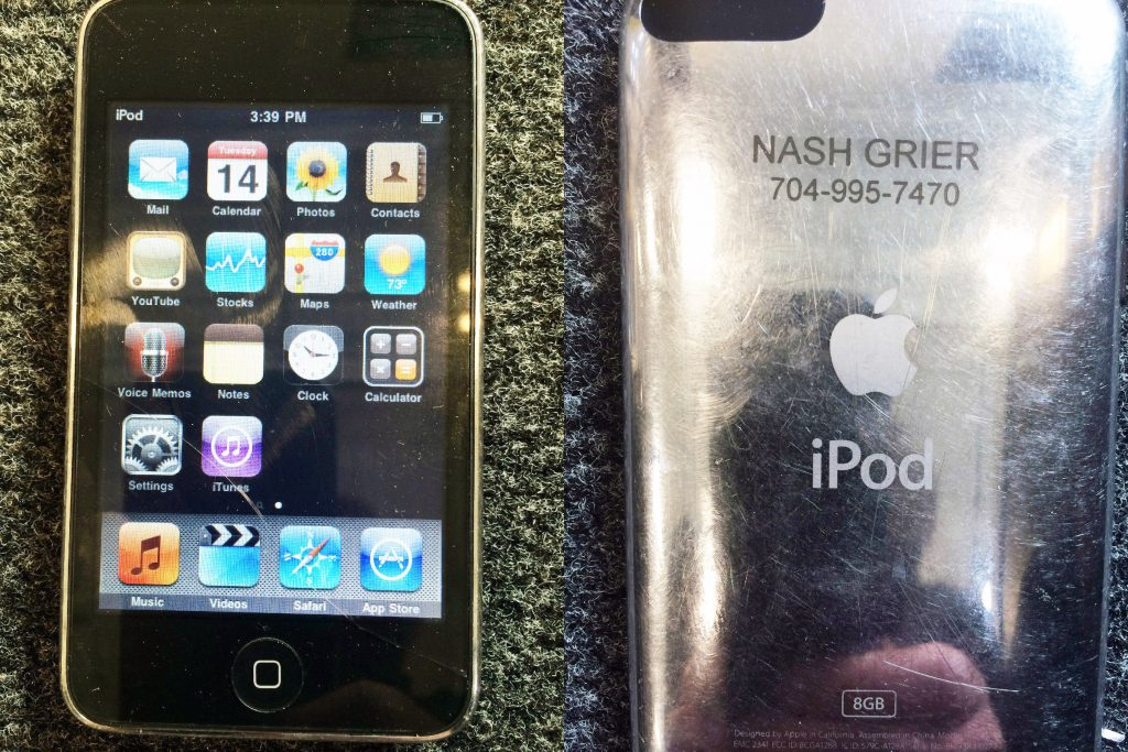 Nash Grier's iPod engraving.