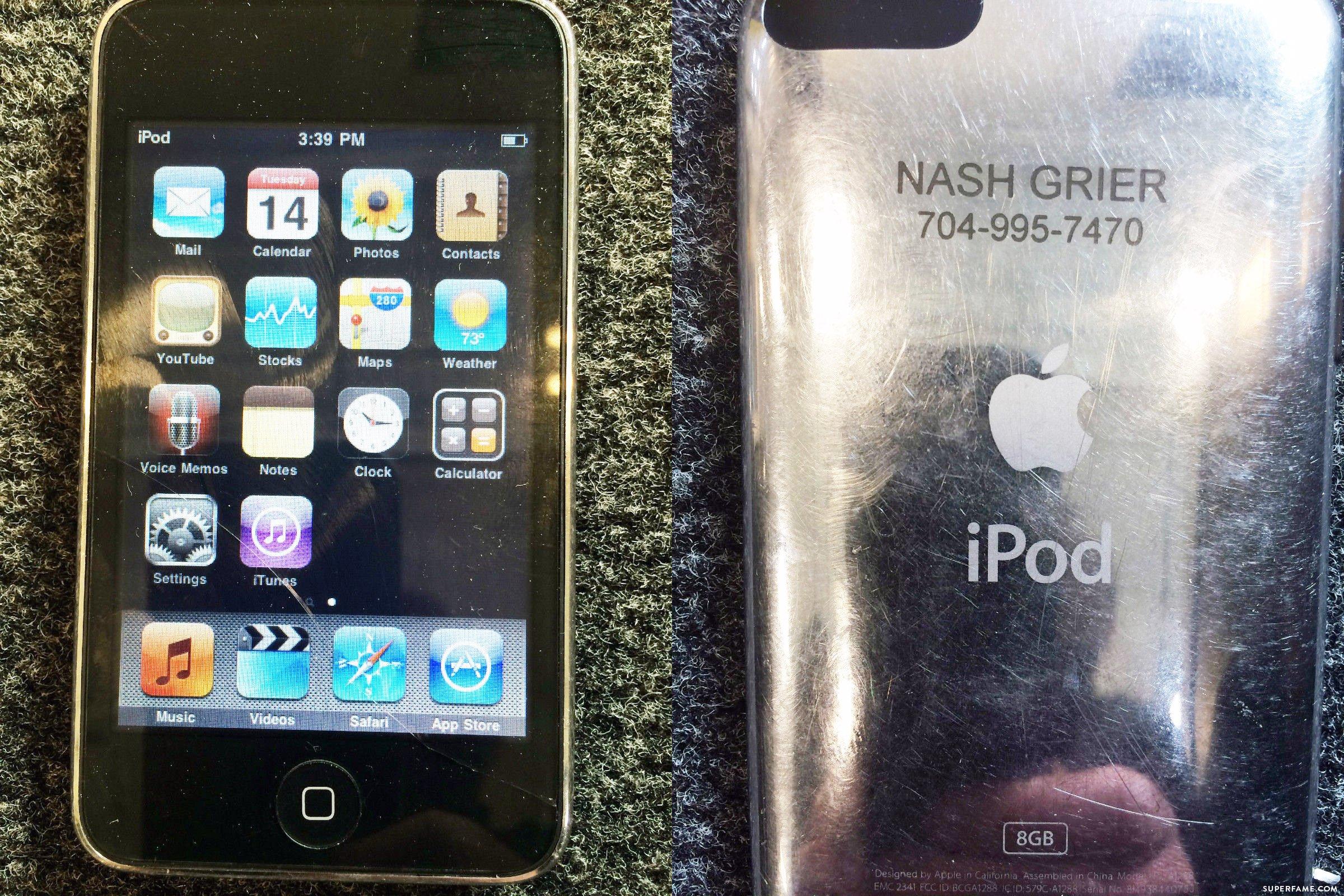 Nash Grier's iPod engraving.